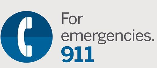 Call 911 Graphic