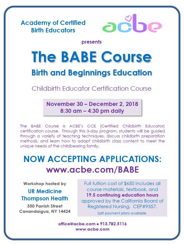 BABE Birth Education Class