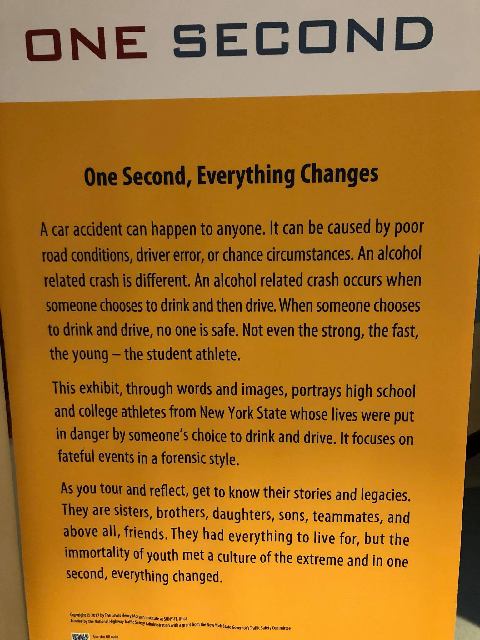 One Second Changes Everything