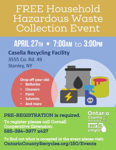 April 27, 2019 Hazardous Waste Event