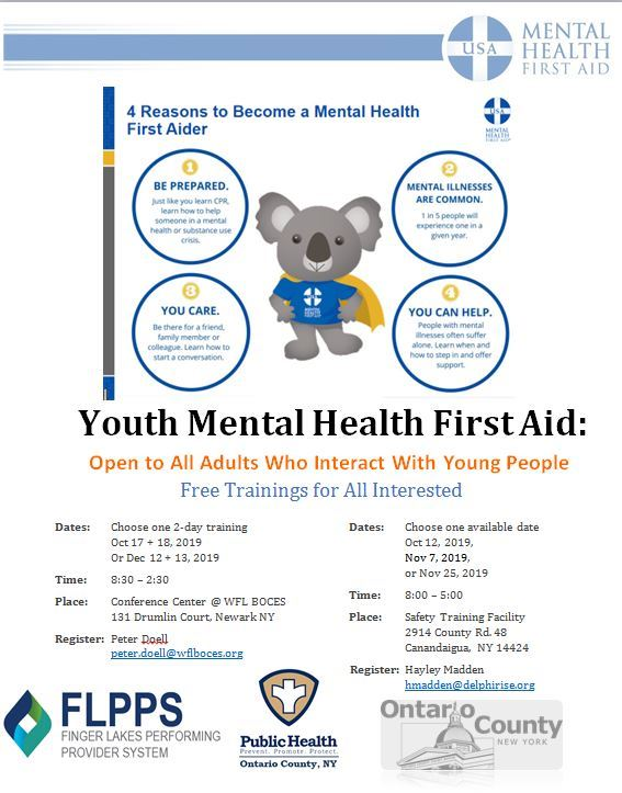 Youth Mental Health 1st aid