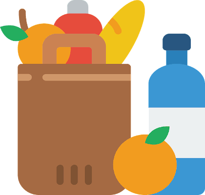 Clip Art Image of Groceries