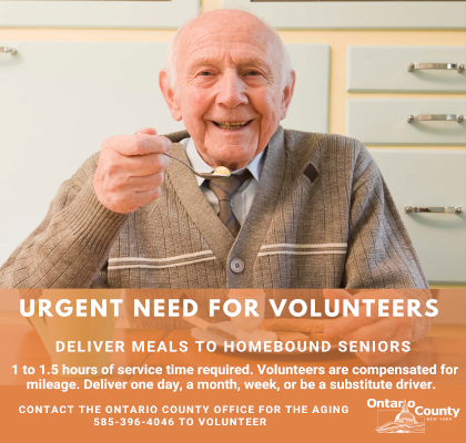 Information on becoming a volunteer to deliver home cooked meals to the elderly.