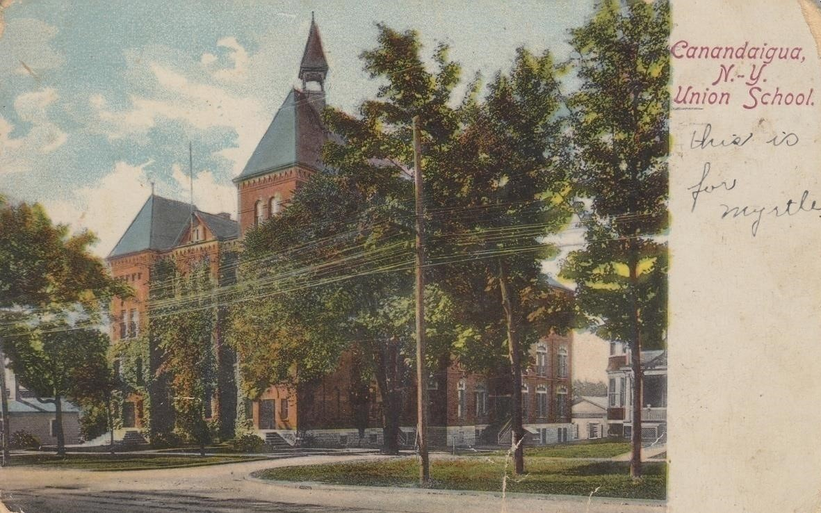 New york ontario county port gibson - In 1899 The Old Academy Closed In 1907 As A New Public Four Year High School Open To Boys And Girls Was Opened On The Site Of The Old Academy Just Up The