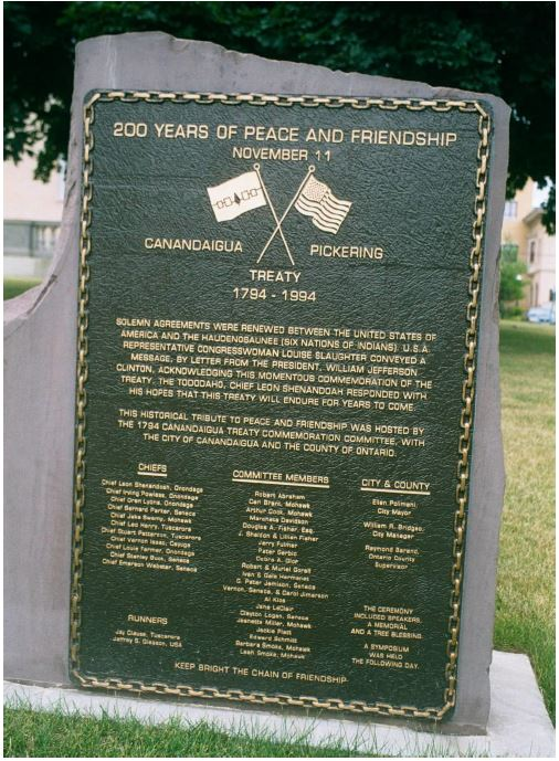 Court House - Treaty of Canandaigua Monument.JPG