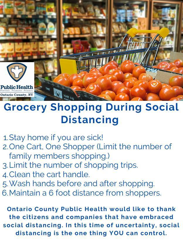 Social Distance Grocery Shopping Tips
