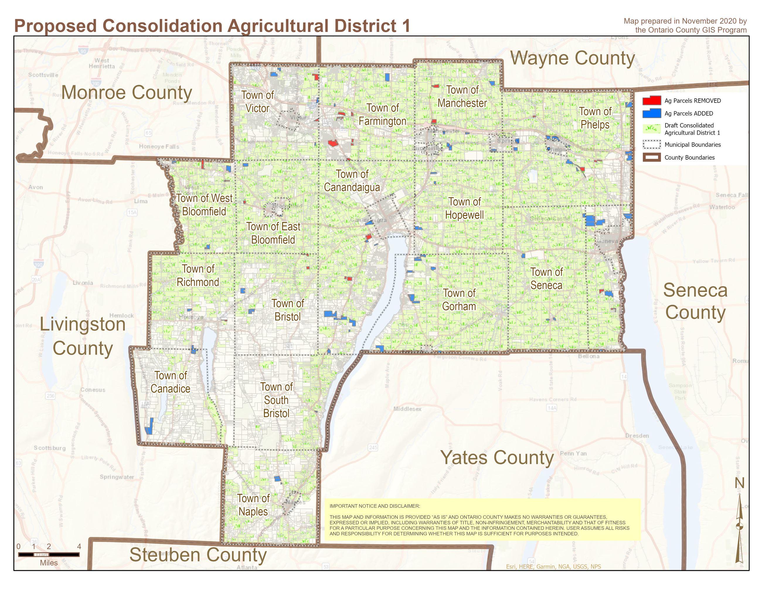 Proposed Consolidation Agricultural District 1 Map