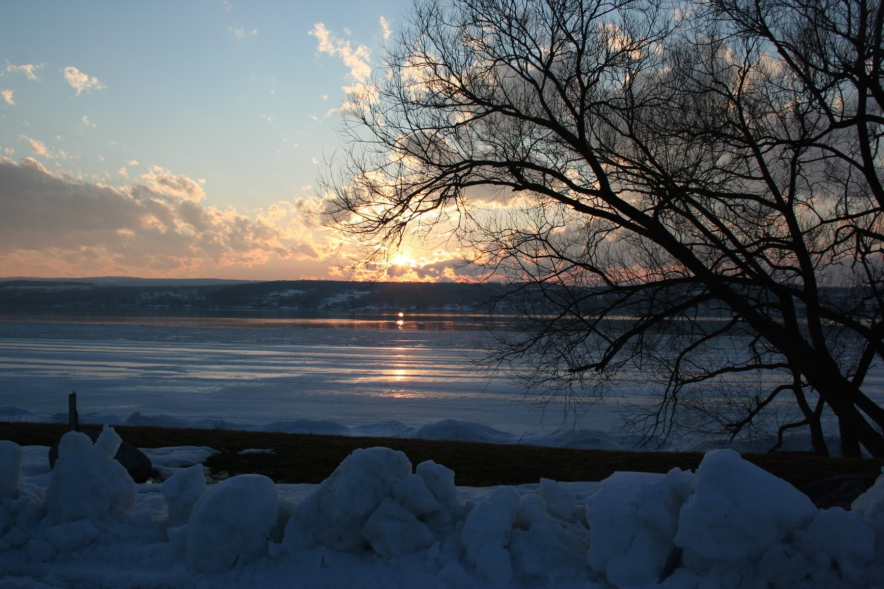 Winter Sunset on Canandaigua Lake
